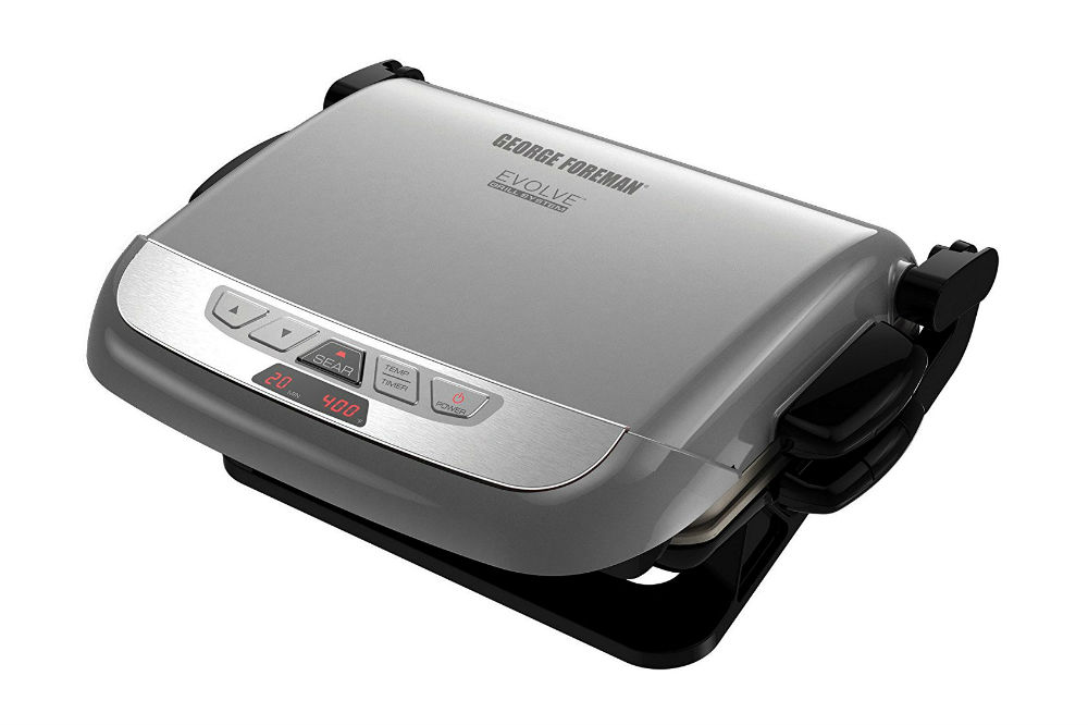George Foreman GRP4842P Multi-Plate Evolve Grill With Ceramic Grilling Plates and Waffle Plates